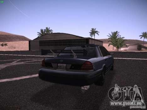 Ford Crown Victoria 2003 pour GTA San Andreas vue de dessus