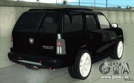 Cadillac Escalade 2004 für GTA San Andreas Unteransicht