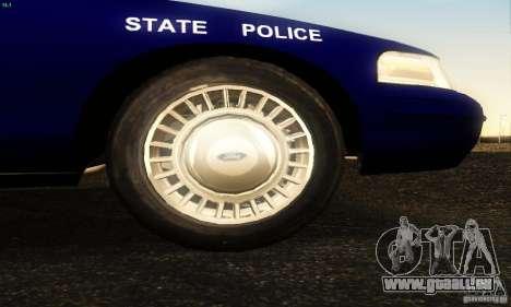 Ford Crown Victoria Masachussttss Police für GTA San Andreas rechten Ansicht