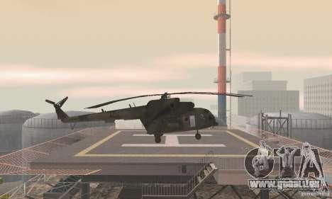 MI-17 pour GTA San Andreas sur la vue arrière gauche