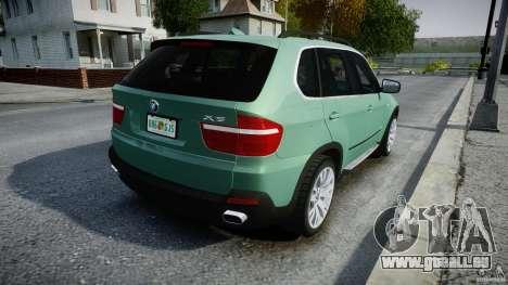 BMW X5 Experience Version 2009 Wheels 223M pour GTA 4 vue de dessus