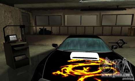 Toyota Supra Tuneable pour GTA San Andreas vue de dessous