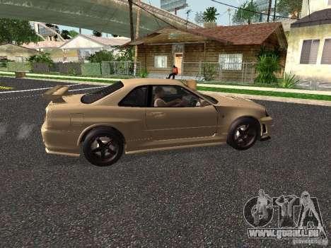 Nissan Skyline Z-Tune pour GTA San Andreas sur la vue arrière gauche
