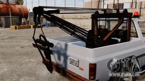 Rancher Tow Truck ELS pour GTA 4 Vue arrière