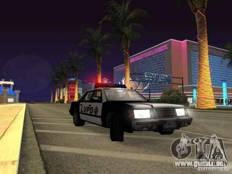 LVPD Police Car pour GTA San Andreas vue intérieure