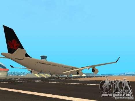 Airbus A340-300 Air Canada für GTA San Andreas rechten Ansicht