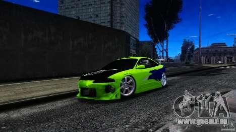 Mitsubishi Eclipse GSX FnF pour GTA 4 est une vue de l'intérieur