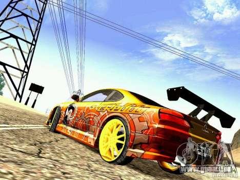 Nissan Silvia S15 Juiced2 HIN pour GTA San Andreas sur la vue arrière gauche