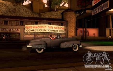 Buick Y-Job 1938 pour GTA San Andreas vue intérieure