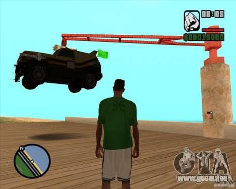 Machine de voiture-mort de mort pour GTA San Andreas deuxième écran