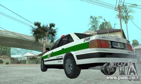 Audi 100 C4 (Cop) für GTA San Andreas rechten Ansicht