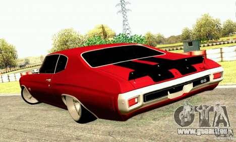 Chevrolet Chevelle 1970 pour GTA San Andreas vue de côté