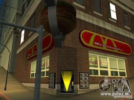 Mc Donalds pour GTA San Andreas troisième écran