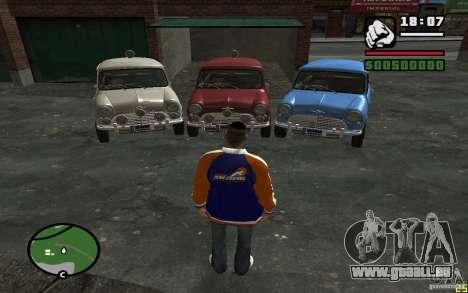 Mini Cooper S pour GTA San Andreas sur la vue arrière gauche