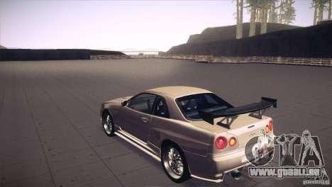 Nissan Skyline R34 pour GTA San Andreas moteur