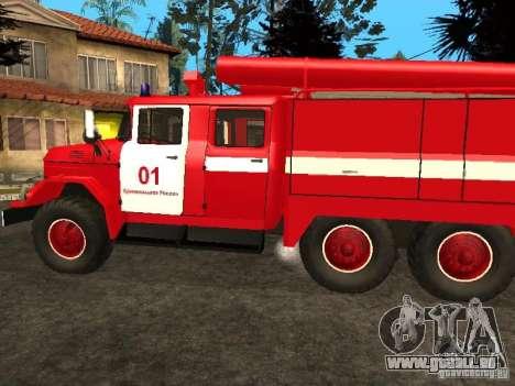 ZIL 131 Feuer für GTA San Andreas rechten Ansicht