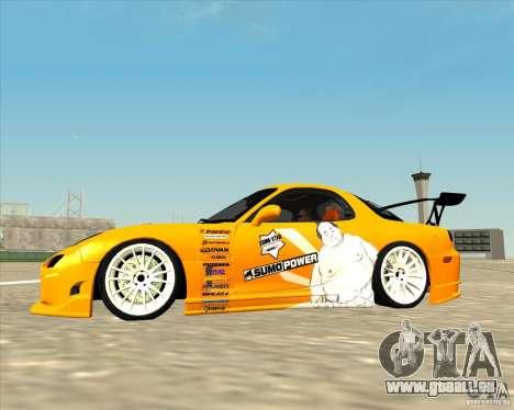 Mazda RX-7 sumopoDRIFT pour GTA San Andreas laissé vue
