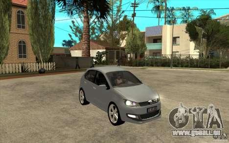 Volkswagen Polo 2011 pour GTA San Andreas vue arrière