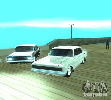 Moskvich 2140 Dragster für GTA San Andreas Rückansicht