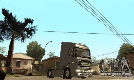 DAF XF pour GTA San Andreas vue intérieure