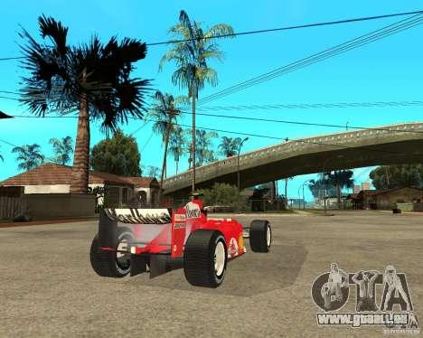 Ferrari F1 pour GTA San Andreas sur la vue arrière gauche