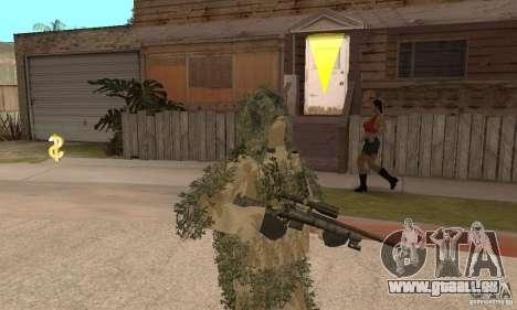 Sniper de peau pour GTA San Andreas deuxième écran