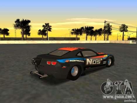 Chevrolet Camaro NOS pour GTA San Andreas laissé vue