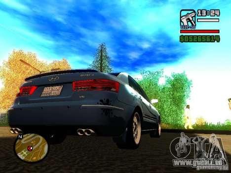 2008 Hyundai Sonata für GTA San Andreas rechten Ansicht