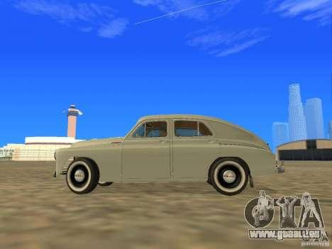 GAZ M20 Pobeda 1949 pour GTA San Andreas laissé vue