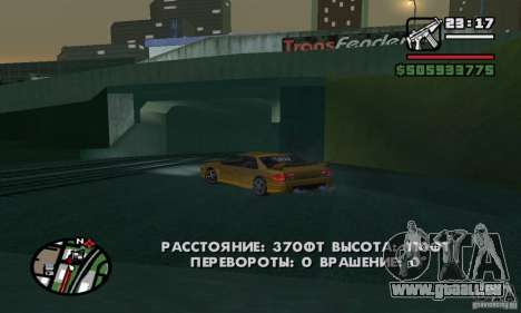 Véhicules RC pour GTA San Andreas cinquième écran