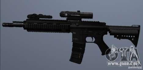 Carabine HK416 pour GTA San Andreas quatrième écran
