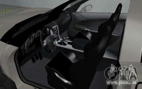 Chevrolet Covette Z06 pour GTA San Andreas vue arrière