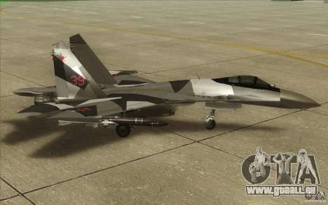 Su-35 BM v2. 0 für GTA San Andreas zurück linke Ansicht