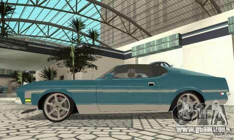 Ford Mustang Mach 1 1971 für GTA San Andreas zurück linke Ansicht