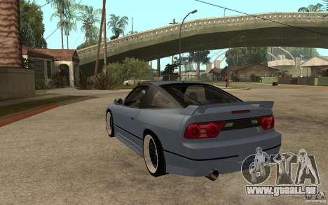 Nissan Silvia80 - EMzone Edition für GTA San Andreas zurück linke Ansicht