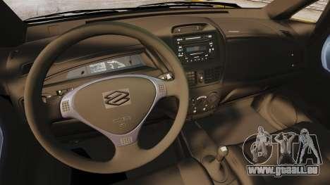 Suzuki Liana GLX 2002 pour GTA 4 Vue arrière