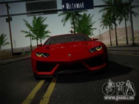 Lamborghini Estoque Concept 2008 für GTA San Andreas Innenansicht