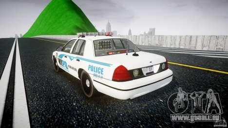 Ford Crown Victoria v2 NYPD [ELS] pour GTA 4 Vue arrière de la gauche