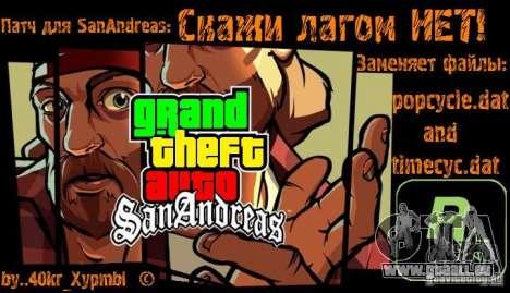 Sagen Sie keine Sträflinge! für GTA San Andreas