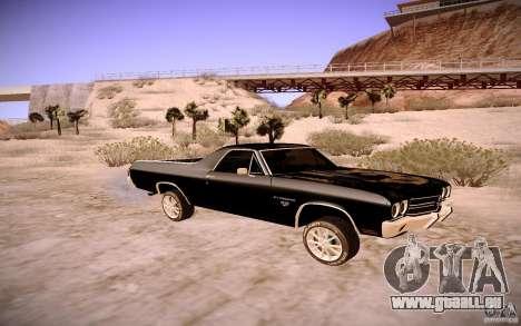 Chevrolet El Camino SS 1970 pour GTA San Andreas sur la vue arrière gauche