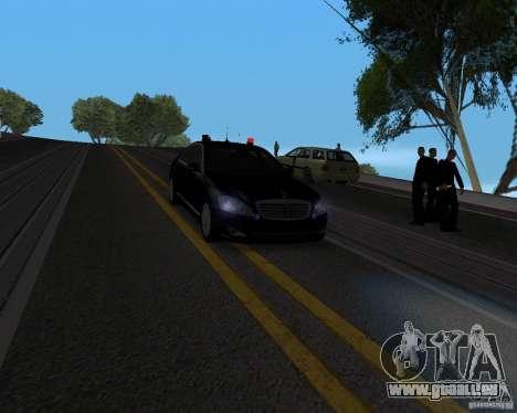 Mercedes Benz S500 w221 SE pour GTA San Andreas