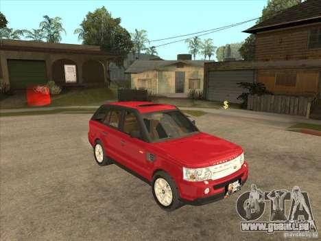 Range Rover Sport 2007 pour GTA San Andreas vue arrière
