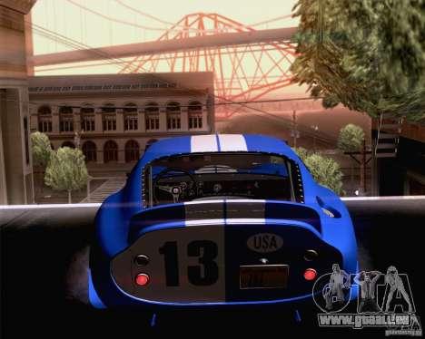 Shelby Cobra Daytona Coupe 1965 pour GTA San Andreas laissé vue