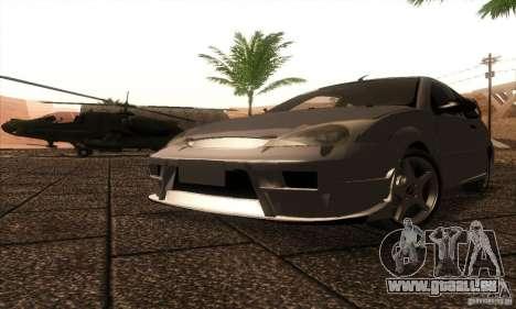 Ford Focus SVT TUNEABLE pour GTA San Andreas laissé vue