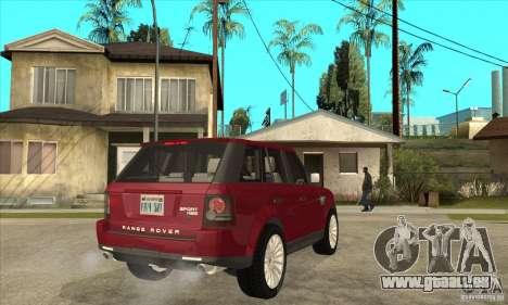 Land Rover Range Rover Sport HSE pour GTA San Andreas vue de droite