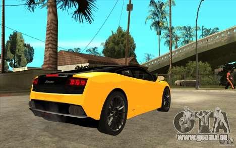 Lamborghini Gallardo LP560 Bicolore für GTA San Andreas rechten Ansicht