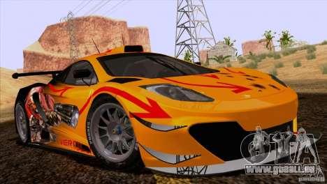 Malerei arbeitet McLaren MP4-12 C Speedhunters für GTA San Andreas rechten Ansicht