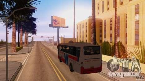 Weena Express pour GTA San Andreas sur la vue arrière gauche