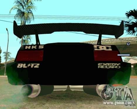 Hotring Racer Tuned für GTA San Andreas Rückansicht