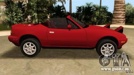 Mazda MX-5 pour une vue GTA Vice City de la gauche